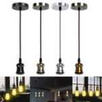 New E26/E27 Retro Pendant Light Cafe Living Room Ceiling Lamp Bulb Adapter Holder Socket Base