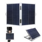 New 60W 18V DC IP65 Waterproof Foldable Portable Monocrystalline Silicon Solar Panel With USB Output+Battery Clip Cable