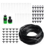 New 25m DIY Plant Self Watering Micro Drip Irrigation System Garden Hose Kits with Adjustable Dripper
