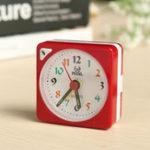 New Mini Travel Alarm Clock Analogue Quartz LED Light With Snooze