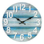 New 13 Inch Wall Clock Round Silent Vintage Beach Ocean Style Clock Home Room Decoration