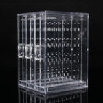 New Acrylic Earring Ear Studs Storage Box Jewelry Display Stand Necklace Holder Rack Organizer