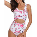 New One Pieces Hollow Slim Swimwear