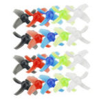 New 10 Pairs KINGKONG/LDARC 40mm 4-blade Transparent Propeller 1.5mm Hub for Beta75X RC Drone