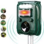 New KCASA KC-501 Garden Solar Powered Ultrasonic Outdoor Animal Pest Repeller Motion Sensor Flash Light Dog Cat Raccoon Rabbit Animal Dispeller