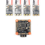 New SKYSTARS BetaFlight F405 AIO Flight Controller OSD & 4 PCS 50A Blheli_32 3-6S DSHOT1200 Brushless ESC for RC Drone FPV Racing