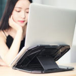 New Universal Adjustable Laptop Stand Holder With Rotative Base + Phone Holder For Laptop Notebook Under 17 Inch