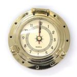 New Brass Roman Vintage Retro Quartz Clock For Camper Car Boat Caravan Motorhome Van