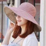 New Women Foldable Double-sided Wear Vogue Floppy Hat