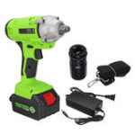 New 198VF 28800Ah Cordless Brushless Electric Impact Wrench Drill Screwdriver Torque Repair Tool