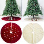 New 120cm Christmas Tree Skirt Cloth Ruffle Cotton Border Xmas Floor Mat Home Decor Floor Mat