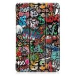 New Tri-Fold Pringting Tablet Case Cover for Samsung Galaxy Tab A 10.1 2019 T510 Tablet – Doodle