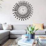 New 3D Modern Luxury Crystal Jeweled Diamond Wall Clock Home Room Decor