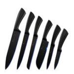New SOWOLL 6PCS Stainless Steel K-nife Set Kitchen Cutter Set Black Sharp Blade Labor Saving Kitchen Vegetable Cutter 3Cr13 Steel Vegetable Cutter