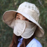 New Women Foldable Face Protection Floppy Hat