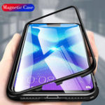 New Bakeey 360° Magnetic Adsorption Metal Tempered Glass Flip Protective Case for Huawei Honor 8X