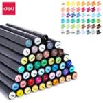 New Deli 70701 1PCS 24/36/48/60 Color Marker Pens Set Double-headed Marker Pen Hand-painted Design Artist Marker Pens Gift for Kids Children