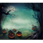 New 5x7FT Vinyl Halloween Pumpkin Tree Photography Backdrop Background Studio Prop
