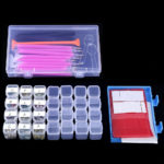 New 66pcs Diamond Paintings Tools 5D DIY Cross Stitch Tool Set Embroidery Sewing Accessories with Storage Box for Art Crafts