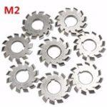 New 8pcs Module 2 Diameter 22mm 20degree #1-8 M2 HSS Involute Gear Milling Cutter
