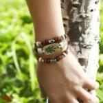 New Vintage Maple Leaf Multi Layer Bracelet