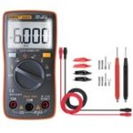 New ANENG AN8001 Orange Professional True RMS Digital Multimeter 6000 Counts Backlight AC/DC Ammeter Voltmeter Resistance Capacitance Frequency Tester + Test Lead Set