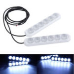 New 12V 6 LED DRL White Daytime Running Lights Driving Bulbs Daylight Car Fog Lamp