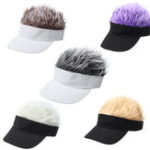 New Creative Wig Baseball Hat Hip Hop Sunshade Golf Hat Wacky Duck Tongue Sun Hat