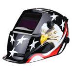 New Solar Powered Auto-Darkening Welding Helmet Black Hawk Grinding TIG Welder Mask