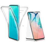 New Full Body Clear Touch Screen Protective Case+3D Tempered Glass Screen Protector For Samsung Galaxy S10