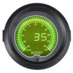 New 7 Color 2inch 52mm Digital LED Turbo Boost Vacuum Pressure Gauge Meter 35 Psi