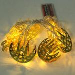 New 1.65M Eid Mubarak Festive Decor LED Castle String Light Holiday Lamp for Wedding Ramadan Decoration
