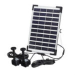 New 10V 5W Solar Power Powered Water Fountain Pump For Pool Pond Garden Outdoor Submersible