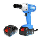 New 96V Electric Cordless Wrench 320nm High Torque Driver Tool W/ 2 Lithium Battery