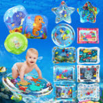 New Inflatable Toys Water Play Mat Infants Baby Toddlers Perfect Fun Tummy Time Play