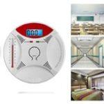 New 2 in 1 Carbon Monoxide Detector Fire Gas Sensor Monitor Warning Alarm Home Security Alarm