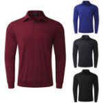 New MODCHOK Homme Quick Dry T-Shirts Manche Longue Top Tee Chemise Coton Casual Classique Sports Shirts
