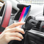 New Hoco 2 in 1 Car Dashboard Air Vent Auto Induction Car Phone Holder For GPS Smart Phone iPhone Samsung Xiaomi Huawei