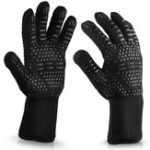 New 932°F Silicone Extreme Heat Resistant Proof Cooking Oven Mitt BBQ Grilling Glove