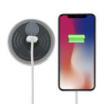 New Embedded Desk Qi Wireless Charger Fast Charging Phone Holder For iPhone Samsung Huawei Xiaomi Oppo