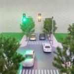 New 5V Street Light Traffic Light Model HO OO Scale Turn Signal LED Model Train Architecture Street