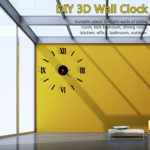 New Wall Clock Watch Large Modern Simple DIY Sticker Decal 3D Roman Numeral Home