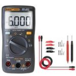 New ANENG AN8002 Black Digital True RMS 6000 Counts Multimeter AC/DC Current Voltage Frequency Resistance Temperature Tester ℃/℉ + Test Lead Set