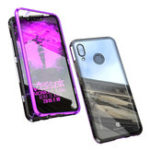 New Bakeey 360° Magnetic Adsorption Upgraded Version Tempered Glass & Metal Flip Protective Case for Huawei Nova 3