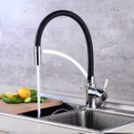 New All Copper Kitchen Sink Faucet 360° Rotation One Hole Basin Mixer Water Tap
