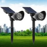 New 5W Solar Powered 7 LED Light-controlled Lawn Light Outdoor Waterproof Yard Wall Landscape Lamp
