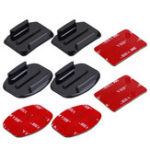 New 3pcs PULUZ PU09 Curved Flat Surface Mount Stickers for Gopro XIAOMI MIJIA XIAOYI EKEN SJCAM COTUO MEEEGOU Action Sport Camera