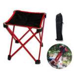 New Outdoor Portable Folding Chair Aluminum BBQ Beach Seat Stool Max Load 90kg Camping Picnic