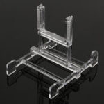 New Clear Adjustable 3″-5″ Easel Jewelry Display Stand Plate Bowl Photo Frame Book Artwor