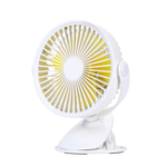 New Well Star WT-F15 Portable Clip Fan 360 Degrees Rotation USB Mini Stripe Fan Rechargeable Air Cooling Fan Clip Desktop Fan Dual Use Portable Home Student Office Fan